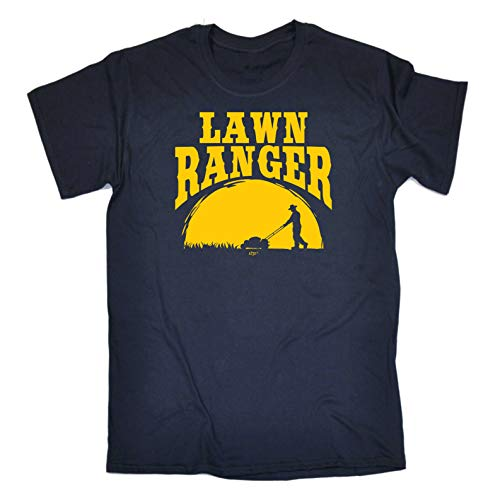 Funny Novelty Tee - Lawn Ranger Mens T-Shirt Gardener Gardening Hobby Horticulturist Birthday Gifts Slogan Tshirts Shirts Tees Fashion T-Shirts T Clothing Men's Shirt Tshirt Awesom Navy Blue from 123t
