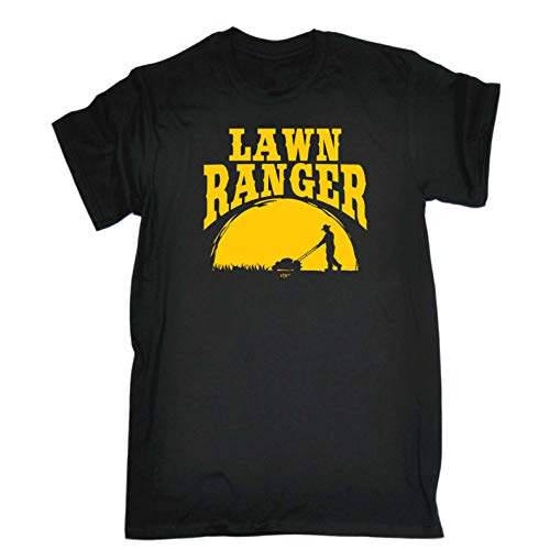 Funny Novelty Tee - Lawn Ranger Mens T-Shirt Slogan Gardener Gardening Hobby Horticulturist Shirts Tshirts T-Shirts T Cheap Tees Clothing Men's Shirt Tshirt Graphic Online Black from 123t