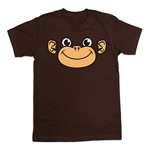 Novelty Funny Top - Slogans Kids Boy's Girl's ANI Mates Monkey (XL-Age-12-13 Brown) T Shirt Slogan tees Childrens Shirts Tshirt Quotes from 123t