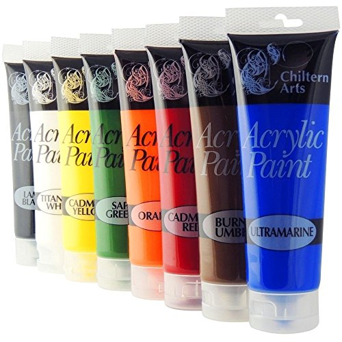 Chiltern Arts 8 Tubes Of Assorted Colour Acrylic Paint - 120ml Tubes from 151