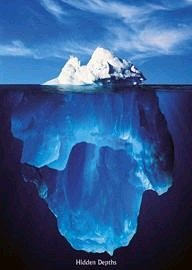 1art1 1531 Poster Motivation Iceberg Hidden Depths 91 x 61 cm from 1art1®