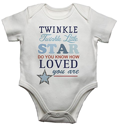 Twinkle Twinkle Little Star Boys Beautiful Baby Vest Bodysuit Baby Grow (6-9 Months) from 2Personal