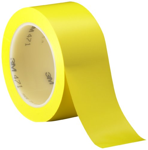 3M 471 Vinyl Tape, 50 mm x 33 m, Yellow, Pack of 24 from 3M