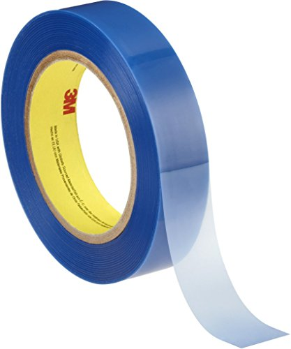 3M 8901 Poly Masking Tape for Powder Coating, 25 mm x 66 m, 0.06 mm, Blue, Pack of 36 from 3M