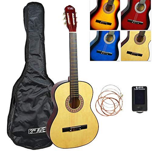 3rd Avenue 3/4 Size Classical Guitar Starter Pack - Natural from 3rd Avenue