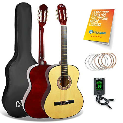 3rd Avenue STX20CNPK Classical Guitar Starter Pack, Natural, 3/4 Size from 3rd Avenue