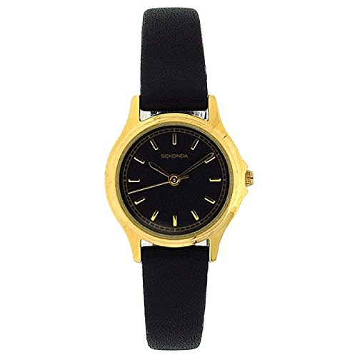 Sekonda Classic 4141 Ladies Watch – Black Dial Black Strap from Sekonda