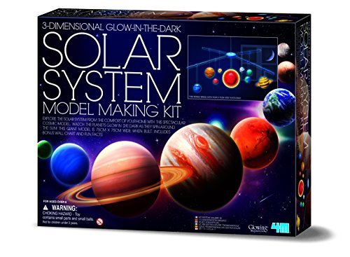 4M 3D Glow in the Dark Solar System Mobile Making Kit from 4M