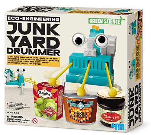"4M ""Eco-Engineering Junkyard Drummer Construction Kit from 4M"