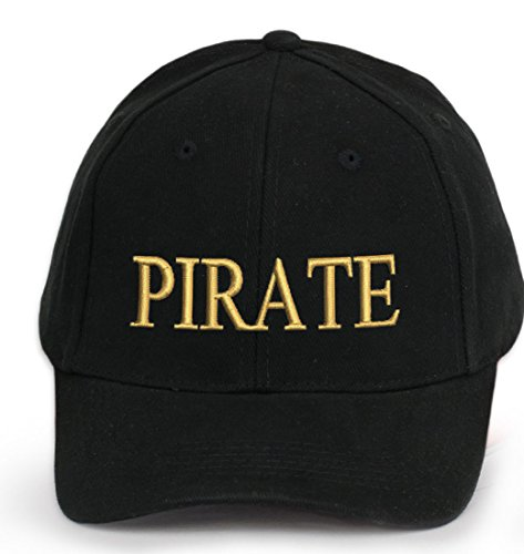 4sold Men Women 100% Cotton Ancient Mariner, Captain Cabin Boy Crew First Mate Yachting Baseball Cap Inscription Lettering Black Gold (Pirate) from 4sold