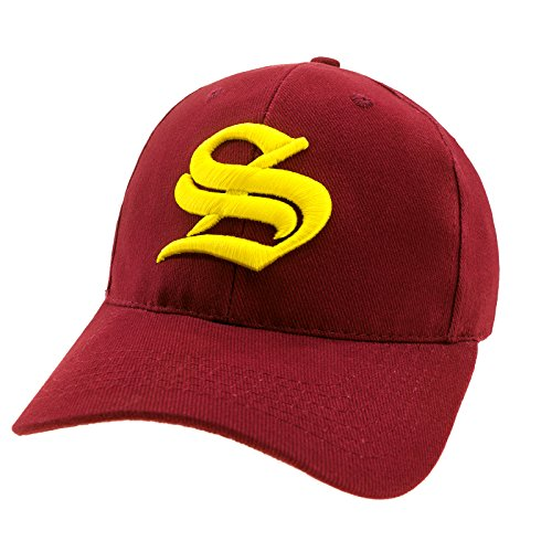 4sold Casual Baseball Gothic B Letter Cap Caps Snap Back Hat Hats Snapback Trucker Cap Headwear (Maroon S Yellow) from 4sold