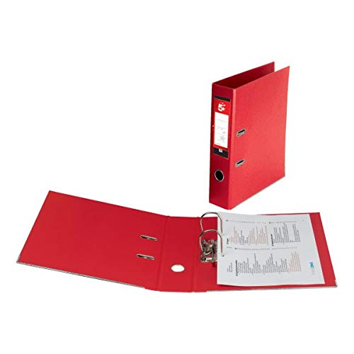 5 Star Lever Arch File PVC Spine 70mm Foolscap Red [Pack of 10] from 5 Star