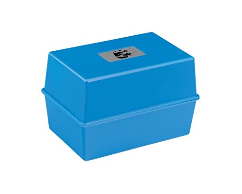 5 Star Office Card Index Box Capacity 250 Cards 6x4in 152x102mm Blue from 5 Star