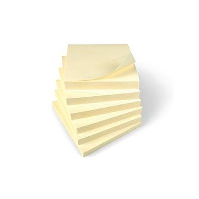 Brand New. 5 Star Re-Move Notes Repositionable Pad of 100 Sheets 76x76mm Yellow [Pack 12] from 5 Star