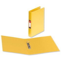 Brand New. 5 Star Ring Binder PVC 2 O-Ring Size 25mm A4 Yellow [Pack 10] from 5 Star