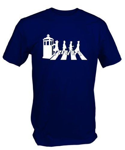 6 TEE NINERS Mens Gallifrey Road T Shirt (Large) Blue from 6 TEE NINERS