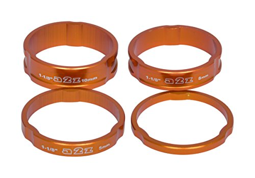 A2Z Unisex Anodized Headset Stack Spacer, Orange, 1.1/8-inch from A2Z