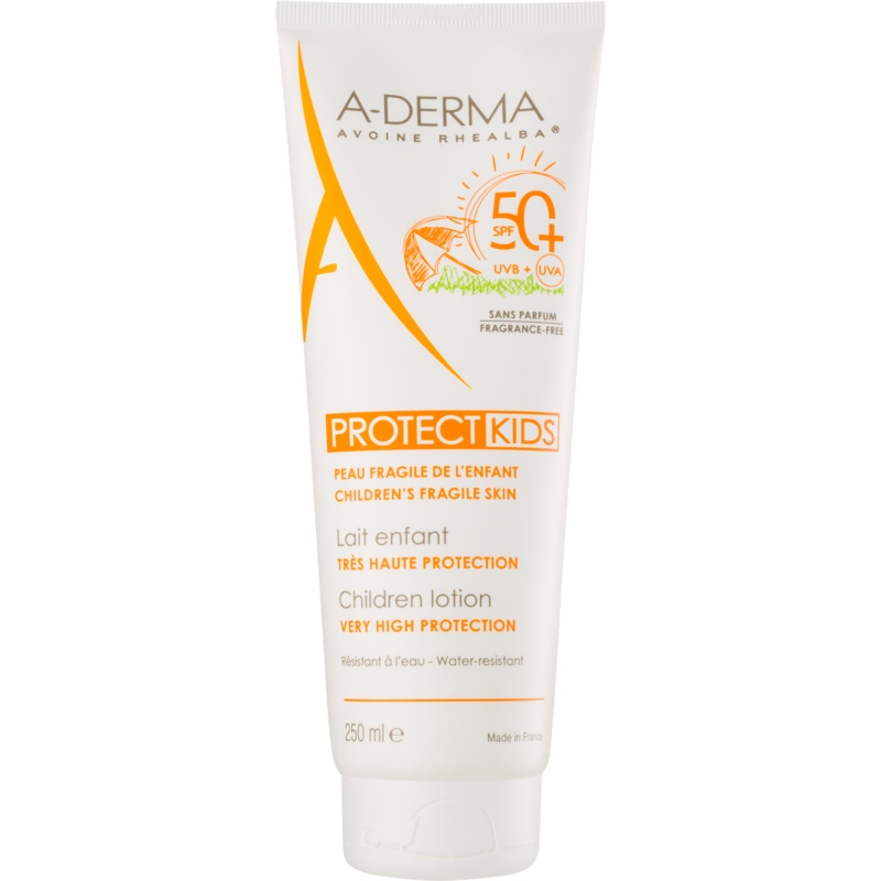 A-Derma Protect Kids Protective Sunscreen Lotion for Kids SPF 50+ 250 ml from A-Derma