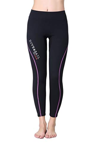 A Point Wetsuit Pant 1.5mm Neoprene Diving PantsWinter Swimming Pants (L, women's purple) from A Point diving