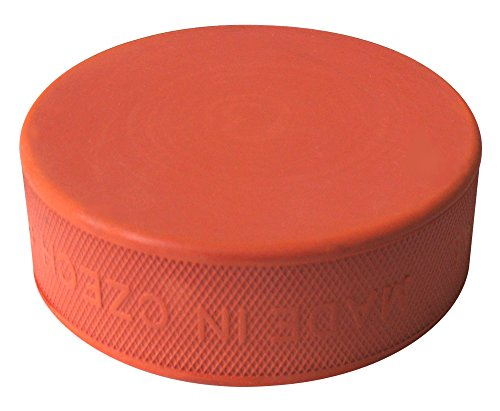 A&R Ice Hockey Puck Orange Training Hard Rubber from A&R Sports