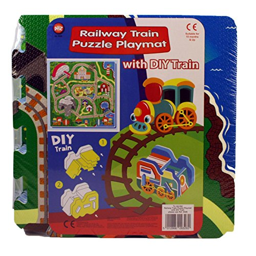 A to Z 09328 Railway Puzzle Play Mat with DIY Train from A to Z