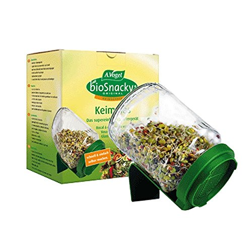 A Vogel Biosnacky Germinator Seed Jar with Lid (Pack of 2 Jars) from A.Vogel