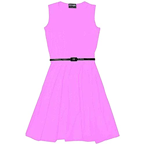 A2Z 4 Kids Girls Skater Dress with Free Belt,  Baby Pink, 7-8 Years from A2Z 4 Kids®