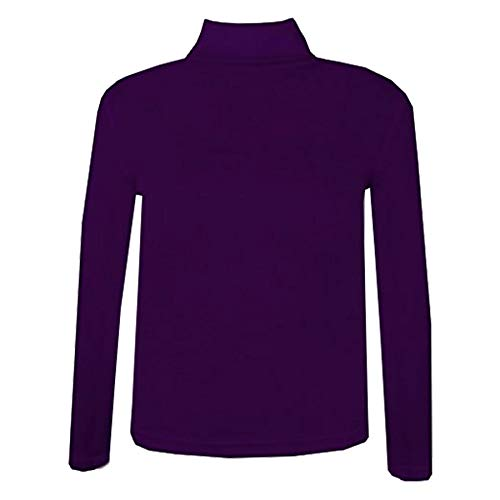 A2Z 4 Kids® Kids Girls Polo Neck T Shirt Ribbed Cotton Polo ROLL Neck Jumper Long Sleeve TOP Age 2-13 YAERS Purple from A2Z 4 Kids