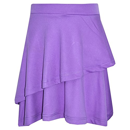 A2Z 4 Kids Gilrs Skirt Kids Plain Color School Fashion Dance Frill Skirts New Age 5 6 7 8 9 10 11 12 13 Years Lilac from A2Z 4 Kids