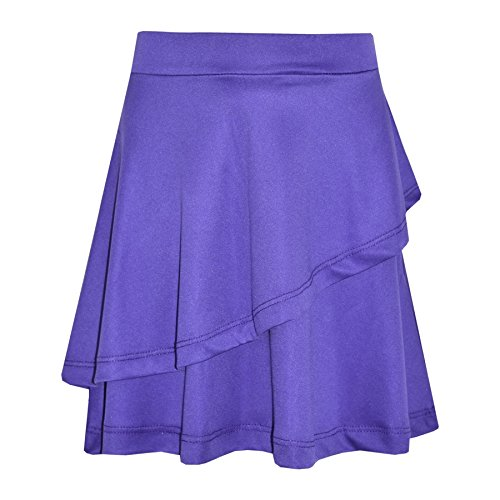 A2Z 4 Kids Gilrs Skirt Kids Plain Color School Fashion Dance Frill Skirts New Age 5 6 7 8 9 10 11 12 13 Years Purple from A2Z 4 Kids