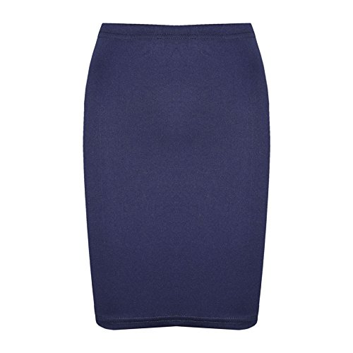 A2Z 4 Kids Gilrs Skirt Kids Plain Color School Fashion Dance Pencil Skirts New Age 7 8 9 10 11 12 13 Years Navy from A2Z 4 Kids