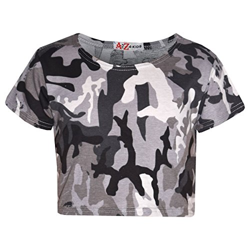 A2Z 4 Kids Girls Top Kids Camouflage Print Crop Top Legging Midi Dress New Age 7 8 9 10 11 12 13 Years from A2Z 4 Kids