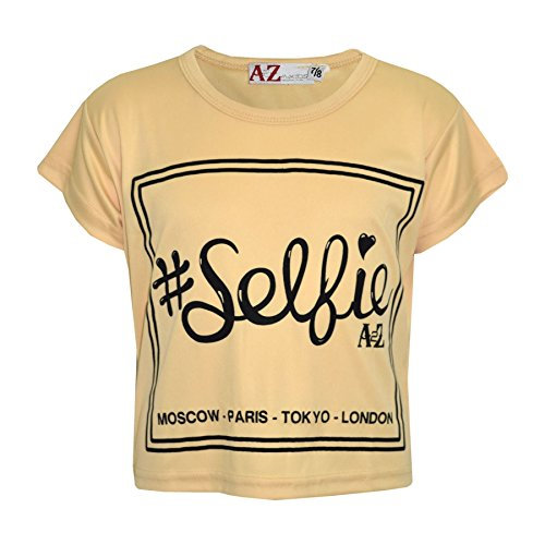 A2Z 4 Kids Girls Top Kids #Selfie Print Stylish Fahsion Trendy T Shirt Crop Top New Age 7 8 9 10 11 12 13 Years from A2Z 4 Kids