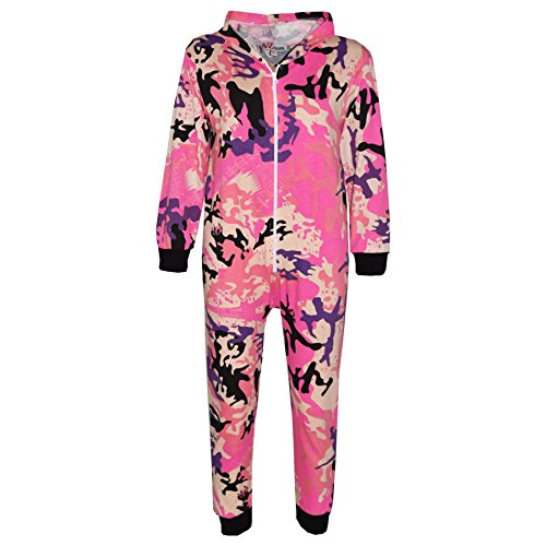 A2Z 4 Kids® Kids Onesie Girls Boys Camouflage Print All in One Jumsuit - A2Z Camo Onesie Baby Pink - 11-12 Yr from A2Z 4 Kids®