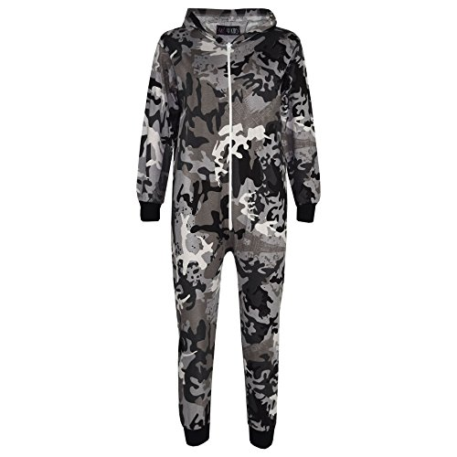 A2Z 4 Kids® Kids Onesie Girls Boys Camouflage Print All in One Jumsuit - A2Z Camo Onesie Charcoal - 11-12 Yr from A2Z 4 Kids®