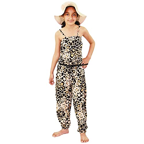 Girls Jumpsuit Kids Floral Leopard Aztec Tribal Print Trendy Playsuit All in One Age 7 8 9 10 11 12 13 Years from A2Z 4 Kids