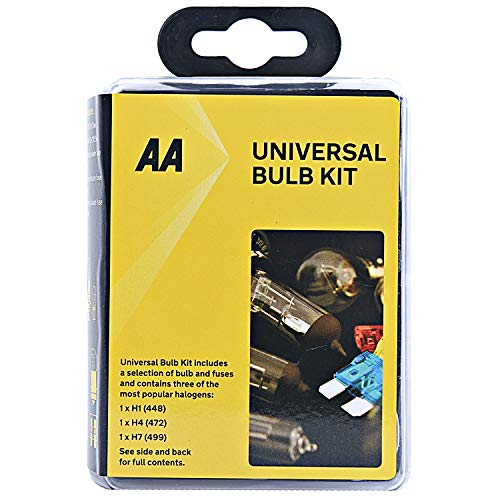 AA Compact Universal Bulb Kit, inc H1, H4 and H7 bulbs - Black from AA