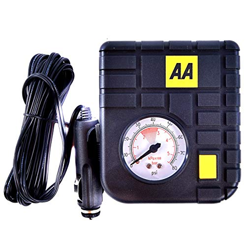 AA Tyre Inflator, Compact and Lightweight for Travel from AA