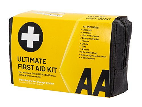 AA Ultimate First Aid Kit, Conforms to DIN 13164 Standard, Black from AA