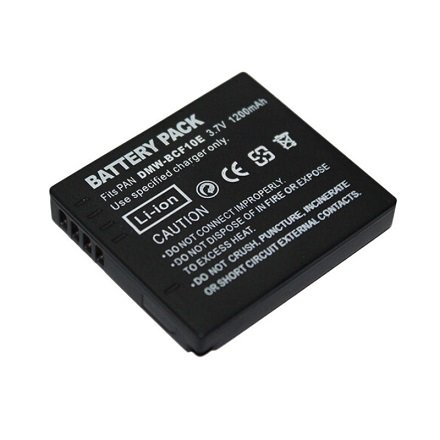 High Capacity - Rechargeable Battery for Panasonic Lumix Digital Camera - Replacement for DMW-BCF10E, DMWBCF10E, BCF10E, DMW BC10FE, CGA-S009, CGA-S106 Batteries - AAA Products® from AAA PRODUCTS