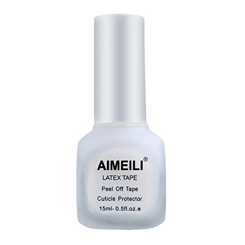 AIMEILI Liquid Latex Peel Off Tape Cuticle Guard Polish Barrier Skin Protector for Nail Art White Odorless 15 ML from AIMEILI
