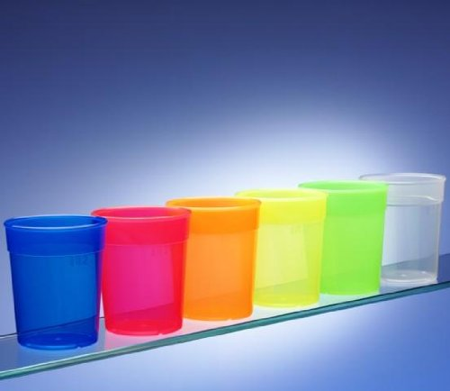 65f3eb50cd5b Dishwasher Safe Stackable Neon Coloured Plastic Cups   Beakers   Tumblers ( set of 6)