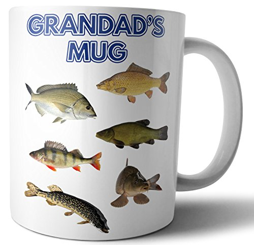 Grandad's Mug, River Fish Fishing Themed Father's Day/Birthday Gift from AK Giftshop