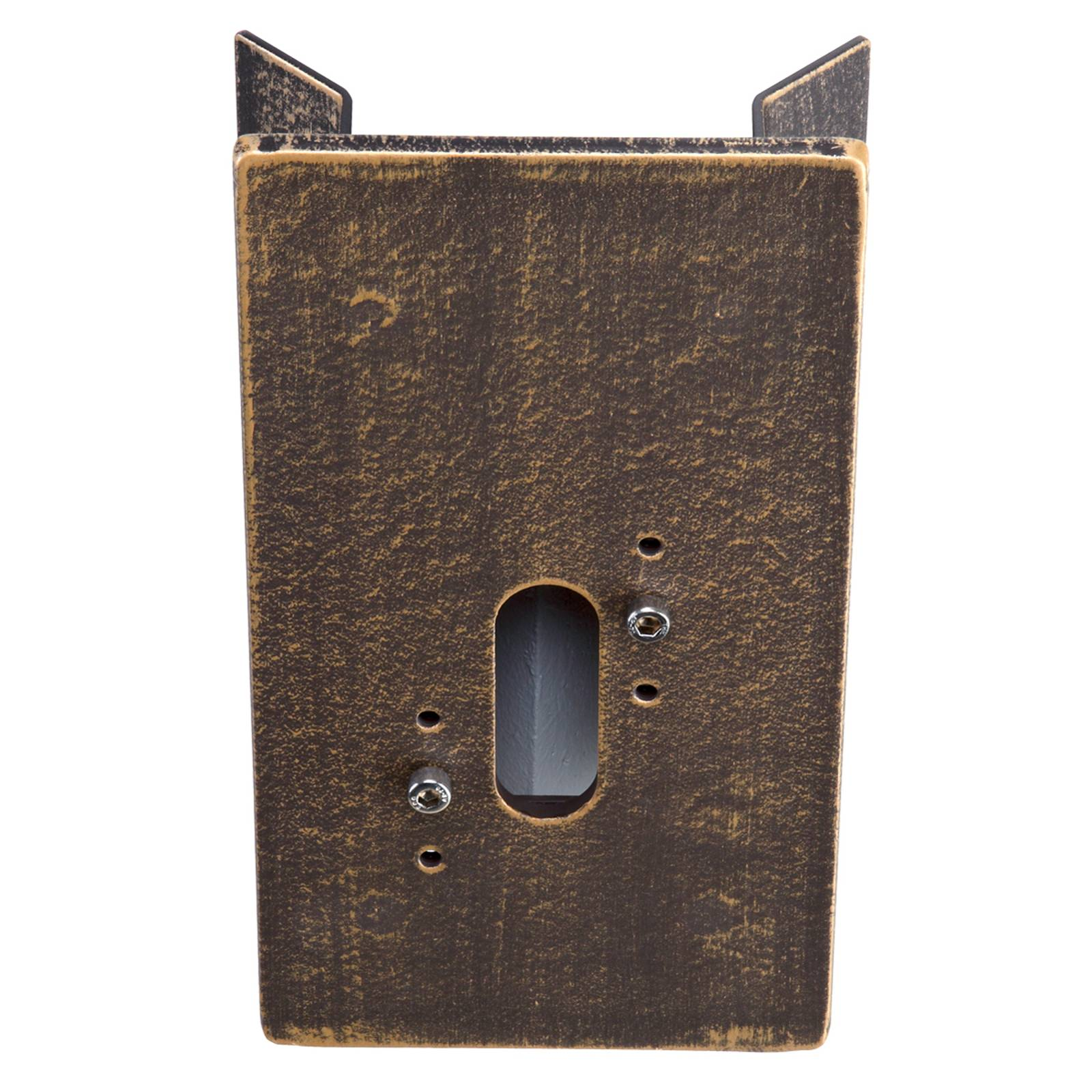 Corner block for outdoor wall lights, brown-brass from Albert Leuchten