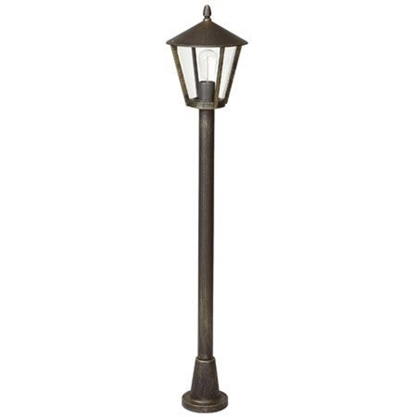 Country house post light 677, brown from Albert Leuchten