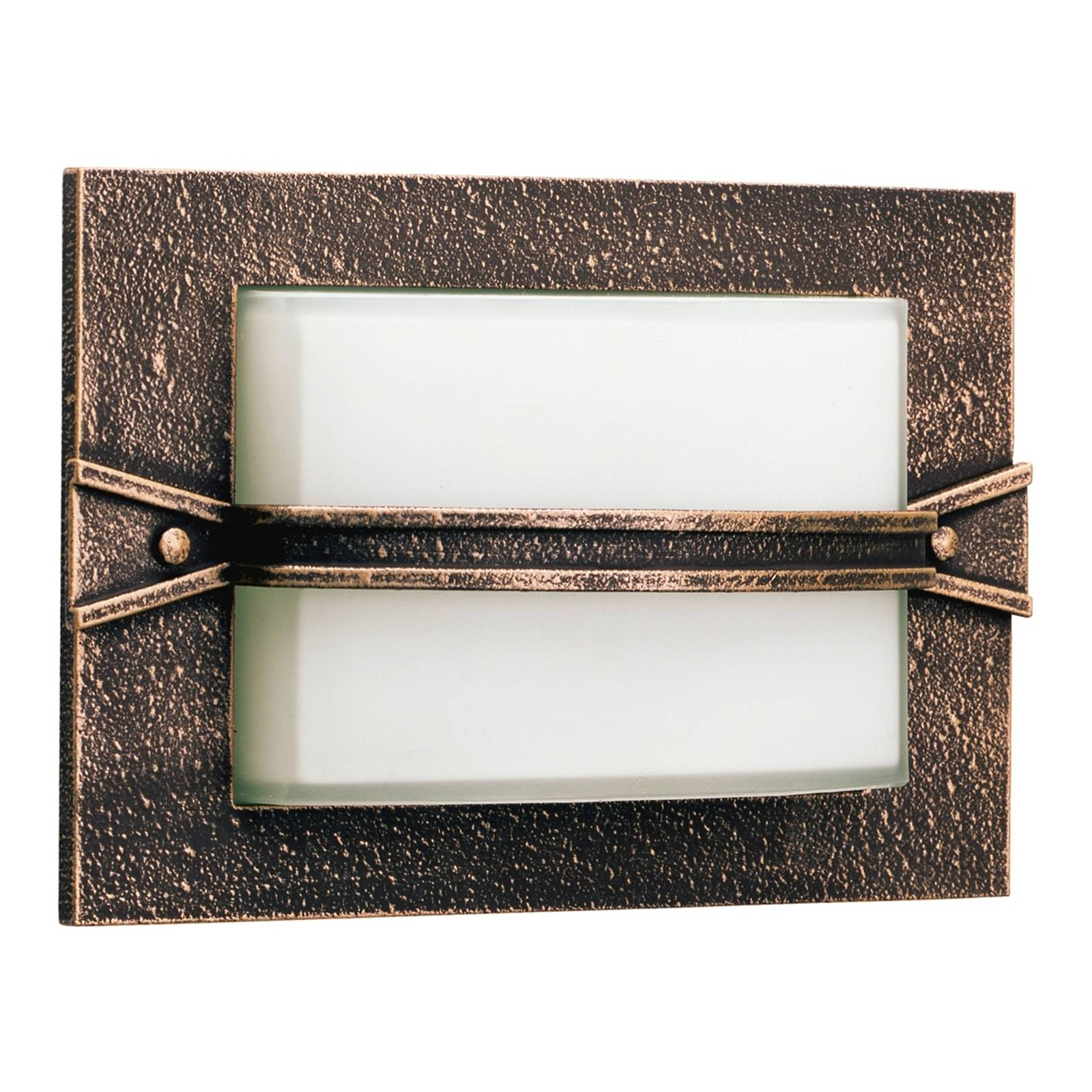 Country-style Ällin outdoor wall light, brown from Albert Leuchten