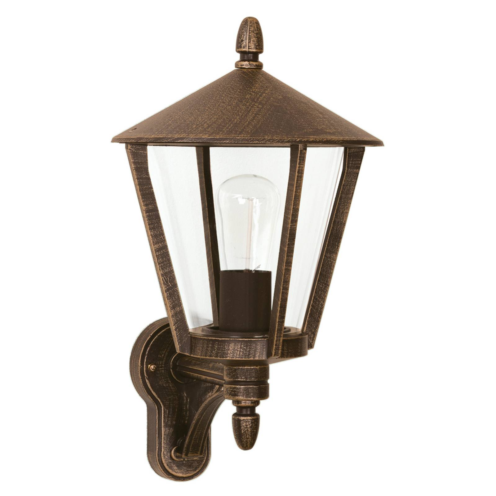 Stylish outdoor wall light 668, brown from Albert Leuchten