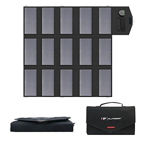 ALLPOWERS Solar Charger 100W Solar Panel Foldable Portable with Dual 5v USB18v DC for Laptop, Tablet, ipad, iphone, Samsung, Notebook, 12v Car, Boat, RV Battery, Camping, Hiking, Travel from ALLPOWERS