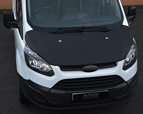 Black Front Bonnet Bra/Protector To Fit Transit Custom (2012-17) from ALVM Parts & Accessories