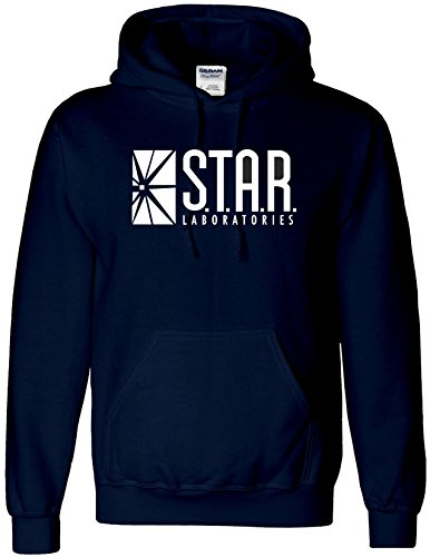 Inspired STAR Laboratories Hoodie-The Flash TV Series S.T.A.R.Labs Hoody Top (MEDIUM , NAVY) from AMBRAT
